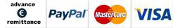 Paypal, Credit cart or Payment in advance